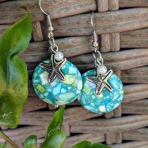 Jewelry - Handmade earring with starfish embellishment